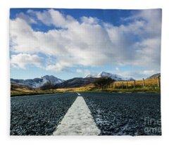 Road To Snowdon Fleece Blanket
