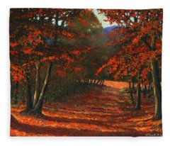 Road To The Clearing Fleece Blanket