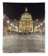Road To The Vatican  Fleece Blanket