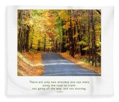 Road To Truth Fleece Blanket