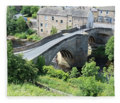 Roadbridge Over The River Tees Fleece Blanket