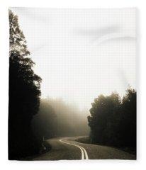 Roads Of Twists And Turns Fleece Blanket