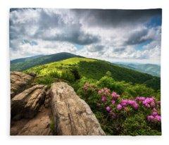 Roan Mountain Radiance Appalachian Trail Nc Tn Mountains Fleece Blanket