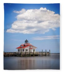 Roanoke Marshes Light Fleece Blanket