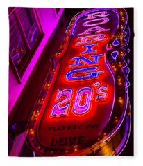 Roaring 20's Neon Fleece Blanket