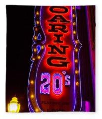 Roaring 20's Neon Sign Fleece Blanket