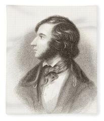 Robert Browning In 1835. Robert Fleece Blanket