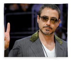 Robert Downey Jr. Fleece Blanket