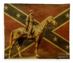 Robert E Lee Statue Gettysburg Fleece Blanket