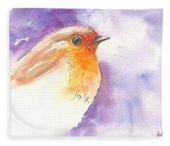 Robin 2 Fleece Blanket
