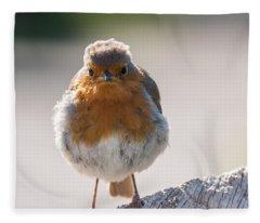 Robin Front Fleece Blanket