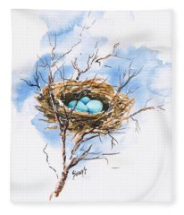 Robin's Nest Fleece Blanket