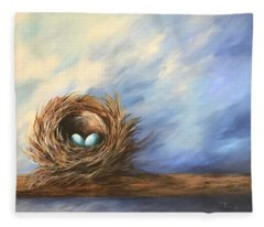 Robin's Two Eggs Fleece Blanket