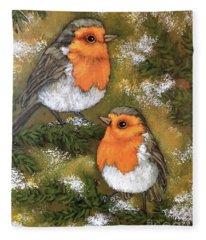 Robins, Winter Fleece Blanket