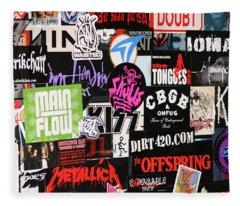 Rock And Roll Stickers Fleece Blanket