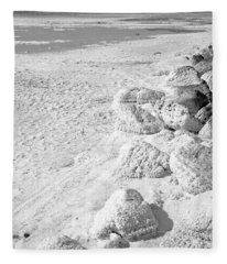 Rock And Salt 3 Fleece Blanket