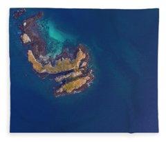 Fleece Blanket featuring the photograph Rock Beach Island, Flores by Pradeep Raja PRINTS
