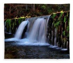 Rock Bridge Falls Fleece Blanket