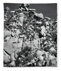 Rock Face Sandia Mountain Fleece Blanket
