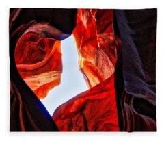 Rock Heart Fleece Blanket