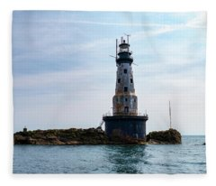 Rock Of Ages Lighthouse Fleece Blanket