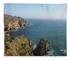 Rocks Near To Cabo Da Roca Fleece Blanket