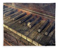 Rock Piano Fantasy Fleece Blanket