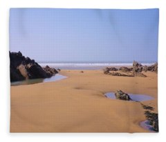 Rock Pools Fleece Blanket