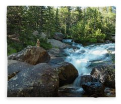 Rock Stack Falls Fleece Blanket