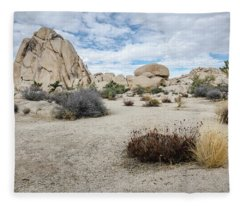 Rock Tower No.2 Fleece Blanket