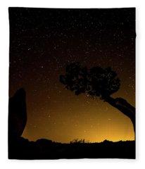 Rock, Tree, Friends Fleece Blanket