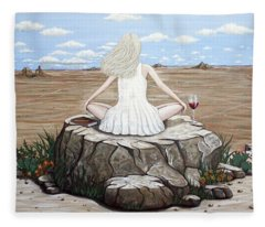 Rock With A View Fleece Blanket