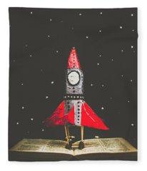 Rockets And Cartoon Puzzle Star Dust Fleece Blanket
