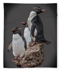Rockhopper Penguins Fleece Blanket