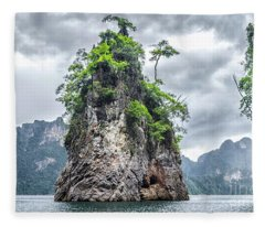 Rocks At Khao Sok Fleece Blanket