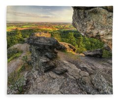 Rocks Of Sharon Overlook Fleece Blanket