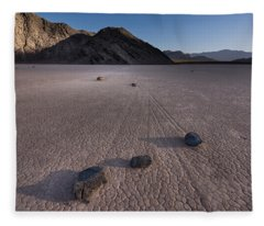 Rocks On The Racetrack Death Valley Fleece Blanket