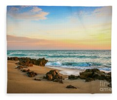 Rocky Beach Fleece Blanket