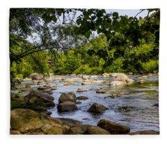 Rocky Broad River Fleece Blanket
