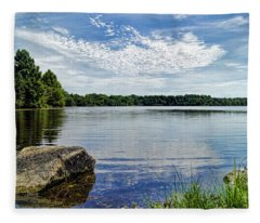 Rocky Fork Lake Fleece Blanket