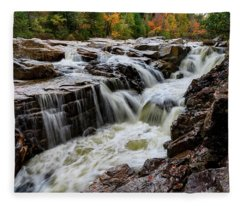 Rocky Gorge Nh Fleece Blanket