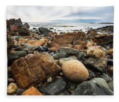 Rocky Maine Coast Fleece Blanket