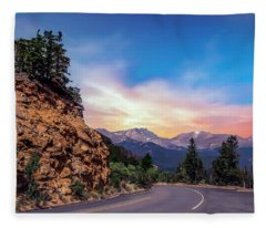 Rocky Mountain High Road Fleece Blanket