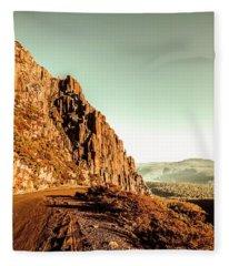 Rocky Mountain Route Fleece Blanket
