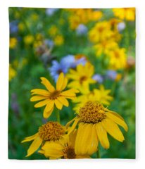 Rocky Mountain Wildflowers Fleece Blanket