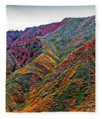 Rocky Mountains In The Fall Fleece Blanket