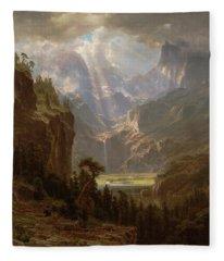 Rocky Mountains, Lander's Peak Fleece Blanket