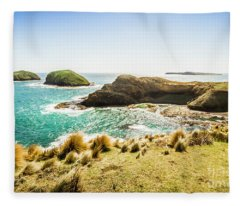 Rocky Ocean Capes Fleece Blanket