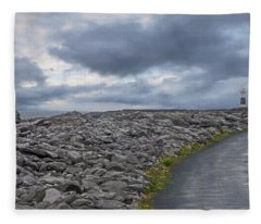 Rocky Road To The Lighthouse Fleece Blanket