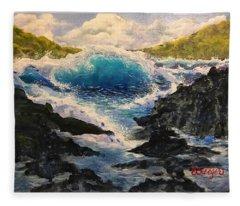 Rocky Sea Fleece Blanket